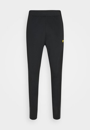 TECH TRACK PANTS - Tracksuit bottoms - true black/rock grey