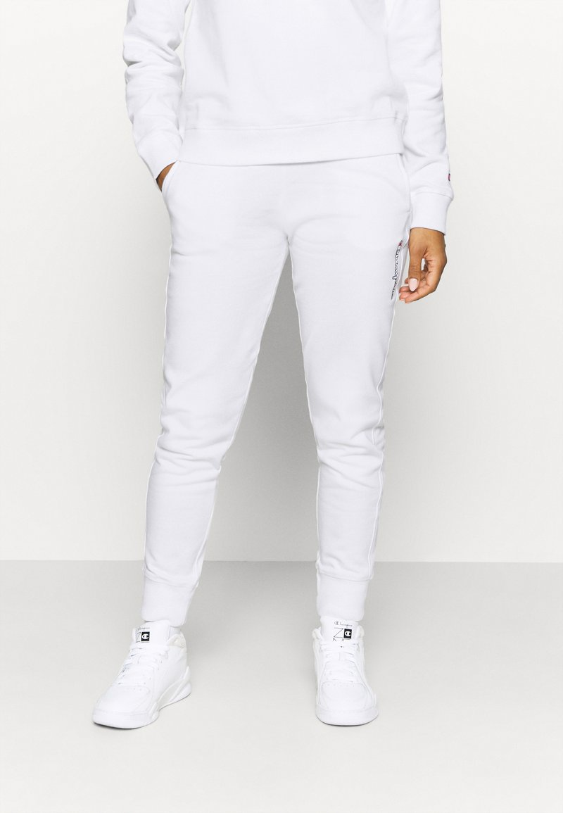 Champion - CUFF PANTS ROCHESTER - Tracksuit bottoms - white