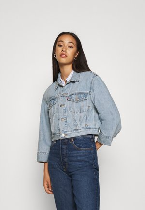 LOOSE SLEEVE TRUCKER - Kurtka jeansowa - light blue denim