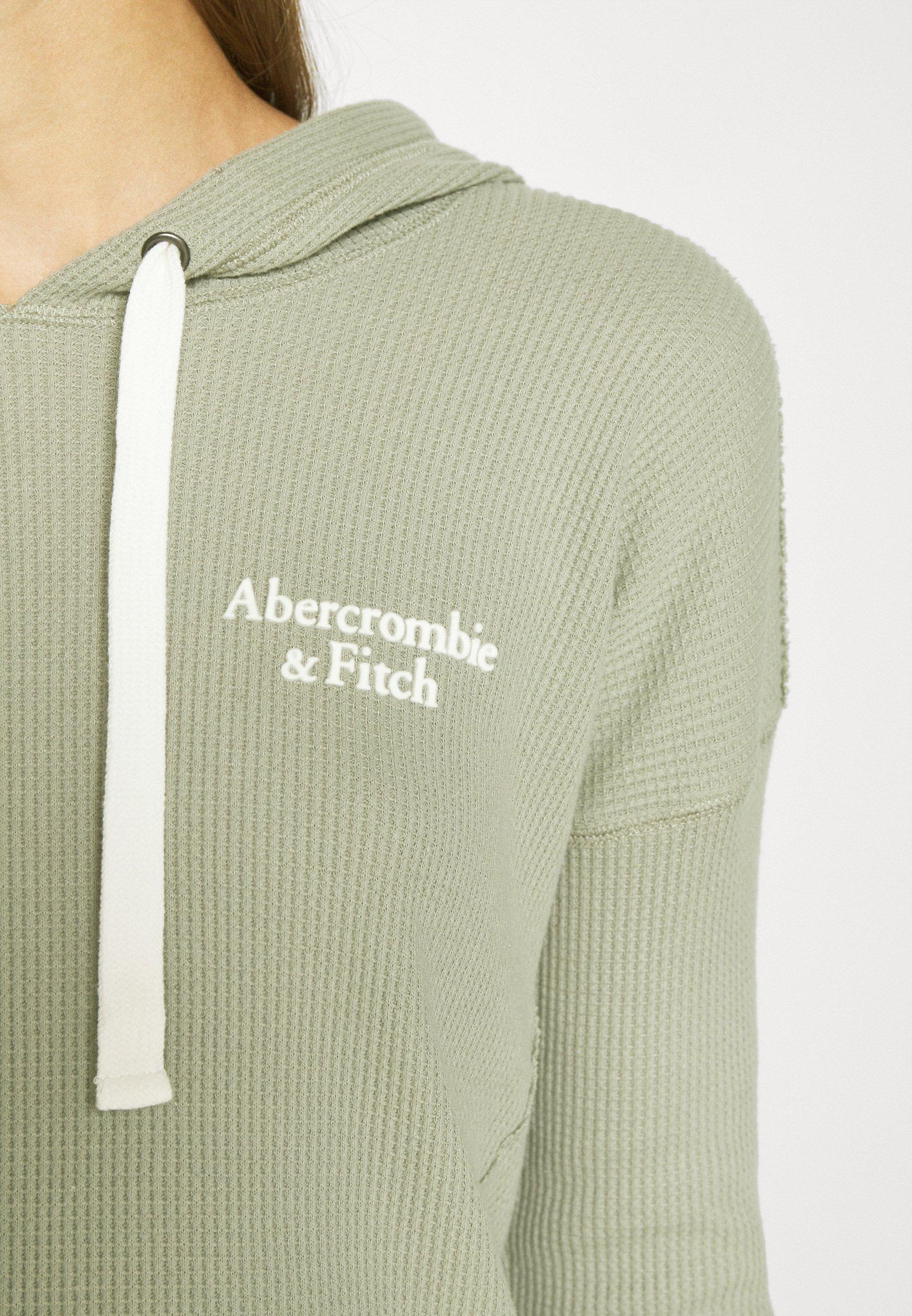 Abercrombie & Fitch LOGO HOOD  - Felpa con cappuccio - grey - Abbigliamento da donna Sbrigati