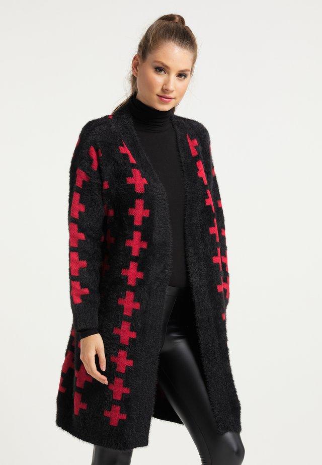 Vest - schwarz rot
