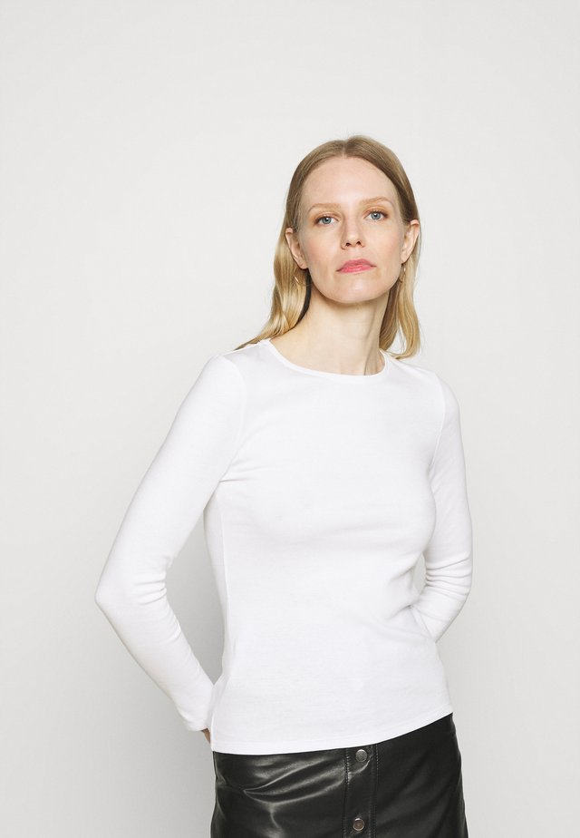 REGULAR CREW - Long sleeved top - white
