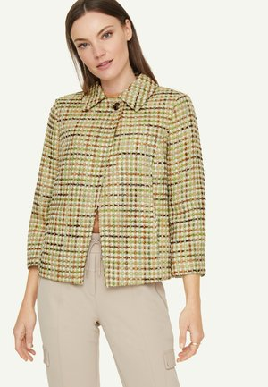Light jacket - spring green jaquard