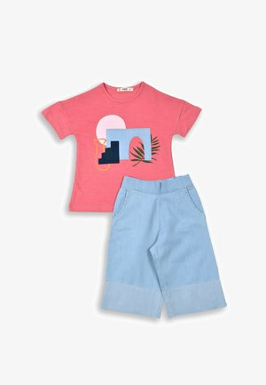 SET - Relaxed fit jeans - coral