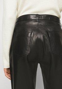 Iro - GNEISS TROUSERS - Spodnie skórzane - black - 3