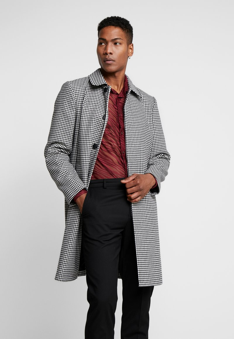 Topman - DOGTOOTH  - Cappotto classico - black/white