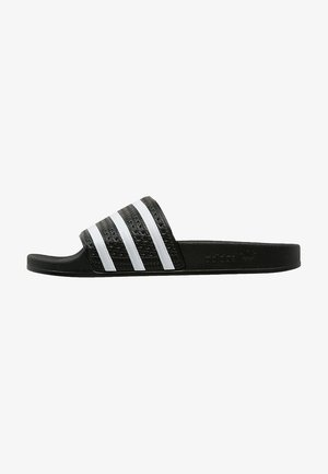 ADILETTE - Pool slides - black/white