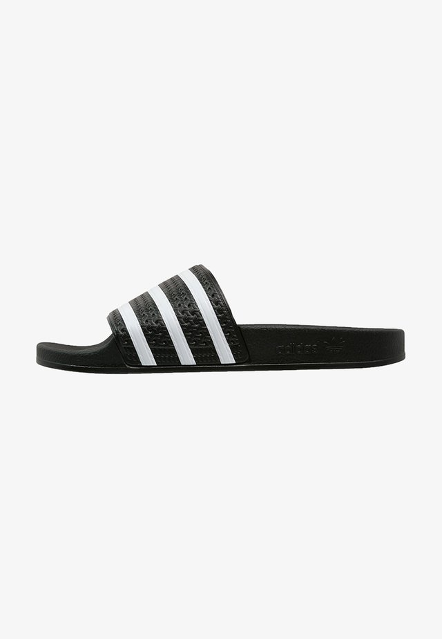 ADILETTE - Chanclas de baño - black/white