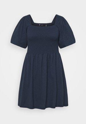 VMALINA SHORT SMOCK DRESS - Jersey dress - navy blazer