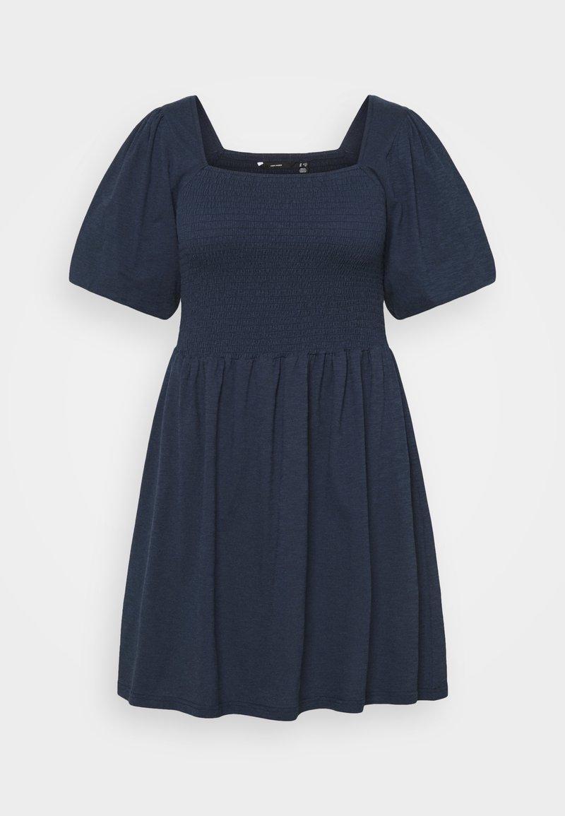 Vero Moda Curve - VMALINA SHORT SMOCK DRESS - Jersey dress - navy blazer