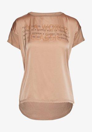Print T-shirt - cognac