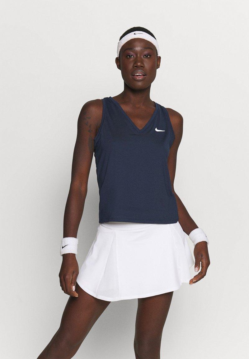 Nike Performance - TANK - T-shirt sportiva - obsidian/white