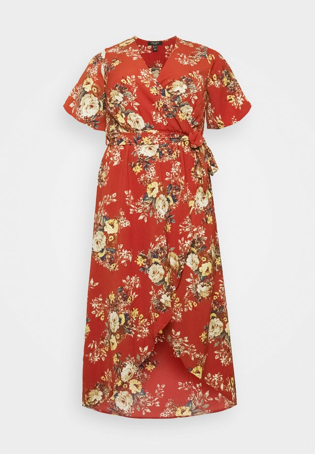 HI LO FLORAL DRESS - Korte jurk - red