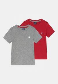 Champion - BASICS TEE 2 PACK UNISEX - T-Shirt basic - mottled grey - 0