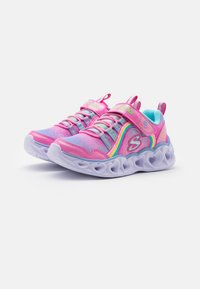 Skechers - HEART LIGHTS - Trainers - pink/multicolor - 1