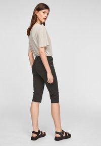 Q/S designed by - Denim shorts - black - 2