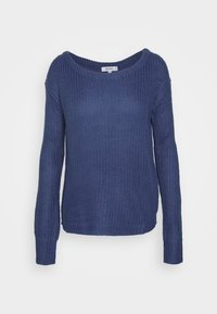 Missguided - OPHELITA OFF SHOULDER JUMPER - Pullover - blue - 4