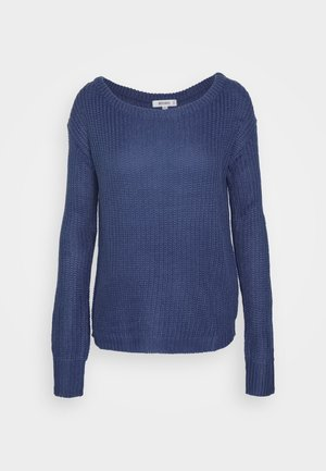 OPHELITA OFF SHOULDER JUMPER - Jumper - blue