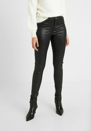 NMCALLIE GLITZY - Trousers - black