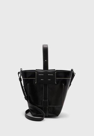 SMALL COATED CANVAS BUCKET BAG - Olkalaukku - black