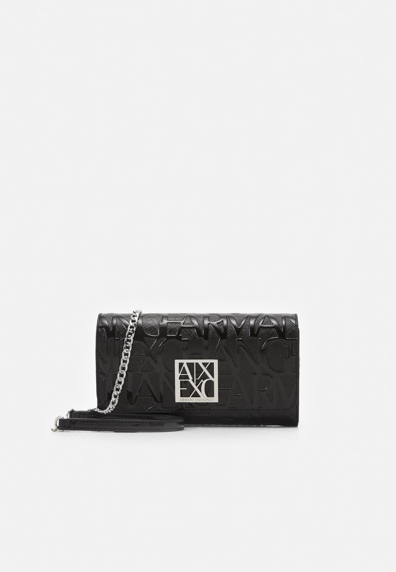 Armani Exchange - WALLET ON CHAIN WOMAN'S WALLET ON CHAIN - Wallet - nero