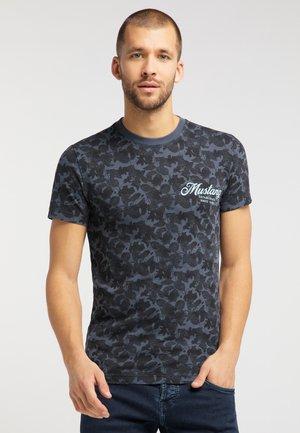 AARON  - Print T-shirt - dark blue