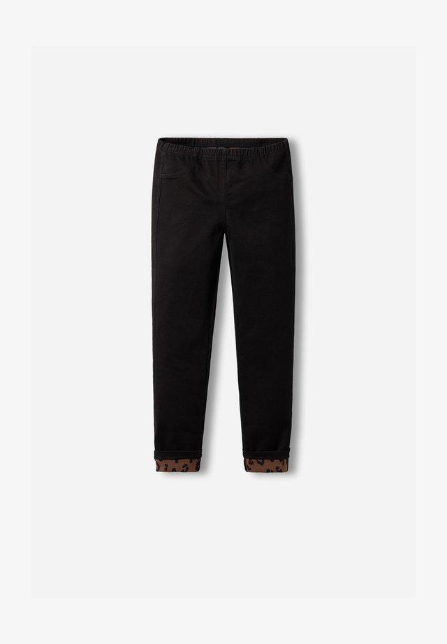 Leggings - Trousers - schwarz - black denim