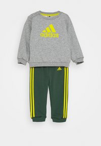 adidas Performance - UNISEX - Träningsset - medium grey heather/yellow - 0
