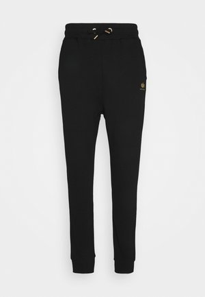 BASIC JOGGER FOIL - Pantaloni sportivi - black/yellow gold