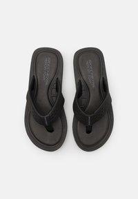 Skechers - TOCKER - T-bar sandals - black/gray - 3