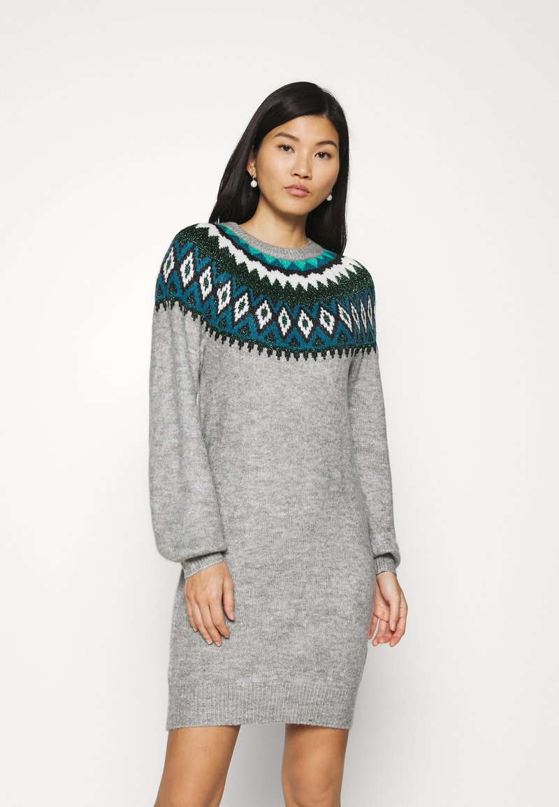 NAF NAF - Shift dress - gris clair