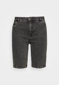 Zizzi - JALBA HIGH WAIST - Denim shorts - grey denim - 3