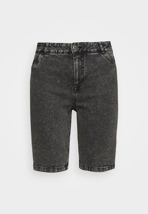 JALBA HIGH WAIST - Denim shorts - grey denim