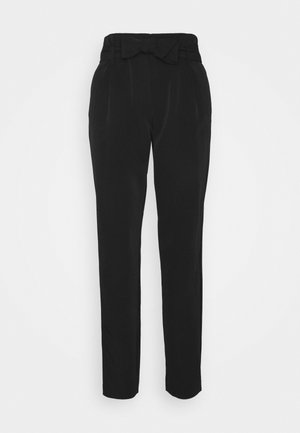 ONLCAROLINA MAIA BELT PANT - Trousers - black
