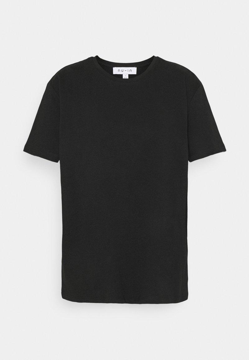 NU-IN - BASIC OVERSIZED - Basic T-shirt - black