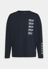 TOM TAILOR DENIM - LONG SLEEVE WITH PRINT - Långärmad tröja - sky captain blue - 5