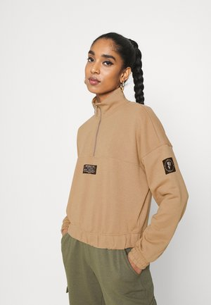 ONLKIRA LIFE HALF ZIP  - Sweatshirt - tigers eye