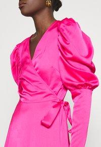 Cras - ALMACRAS WRAP DRESS - Day dress - shocking pink - 5