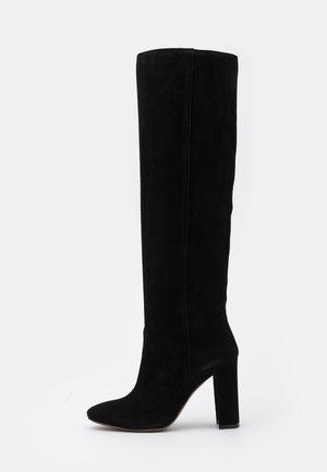 BOOT NO ZIP - High heeled boots - black