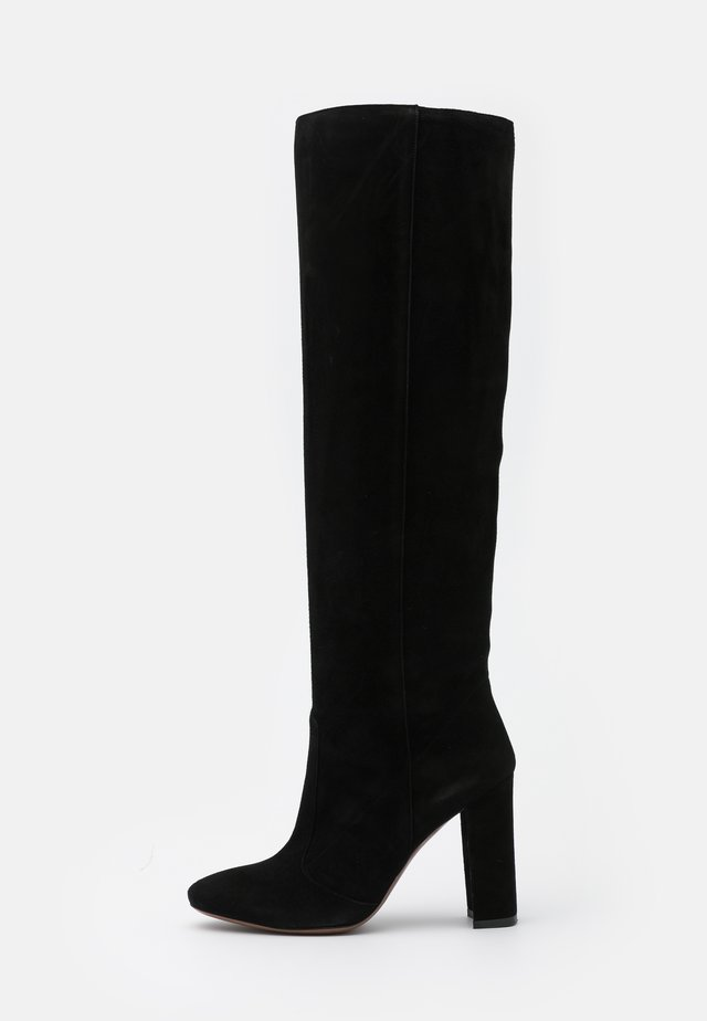 BOOT NO ZIP - High heeled boots - black