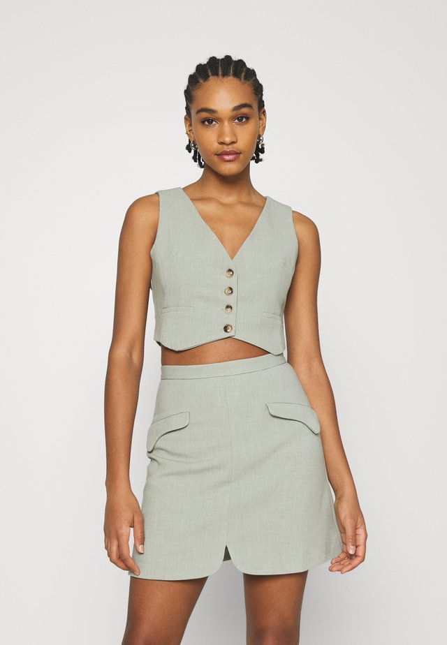 WAISTCOAT - Vest - sage green