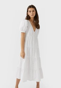 Stradivarius - Day dress - white - 0