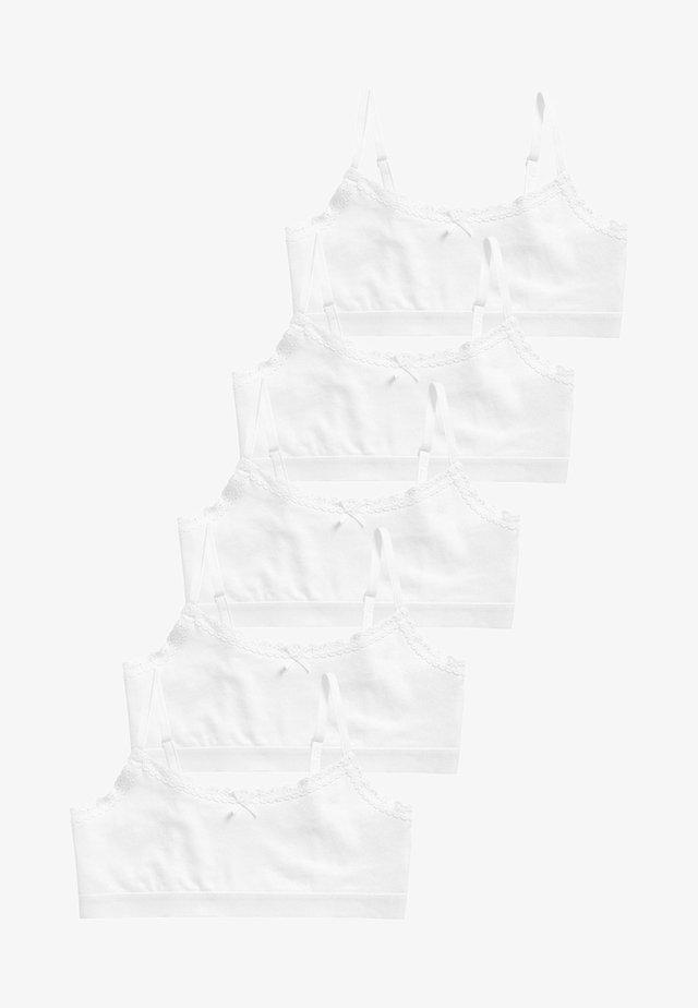 5 PACK  - T-shirt bra - white