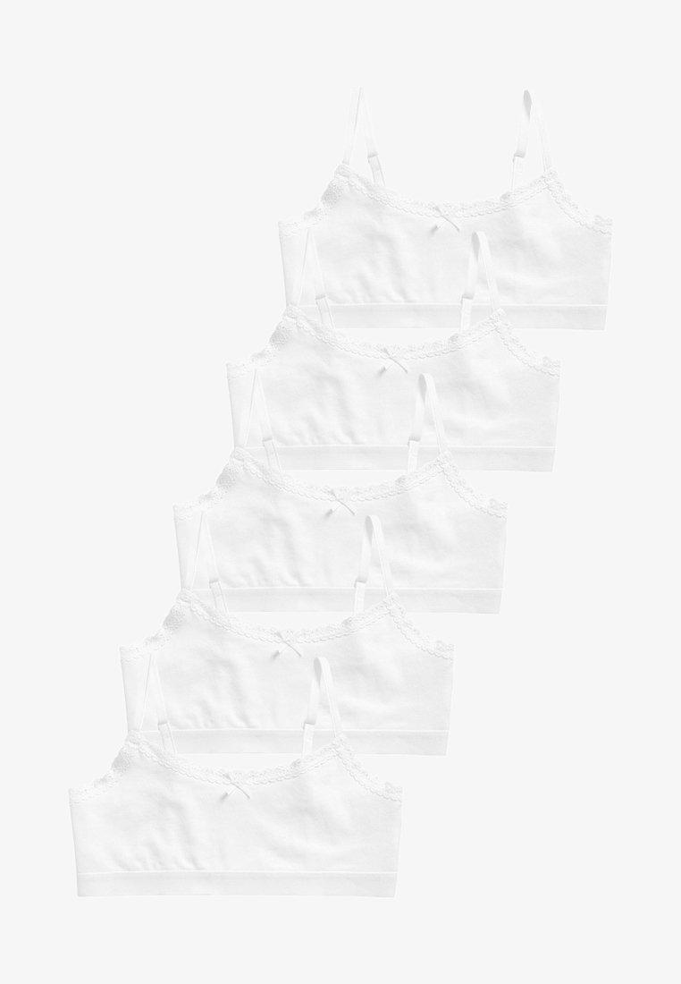 Next - 5 PACK  - Podprsenka pod tričko - white