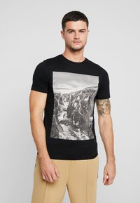 Only & Sons - ONSBROCK  - T-Shirt print - black - 0