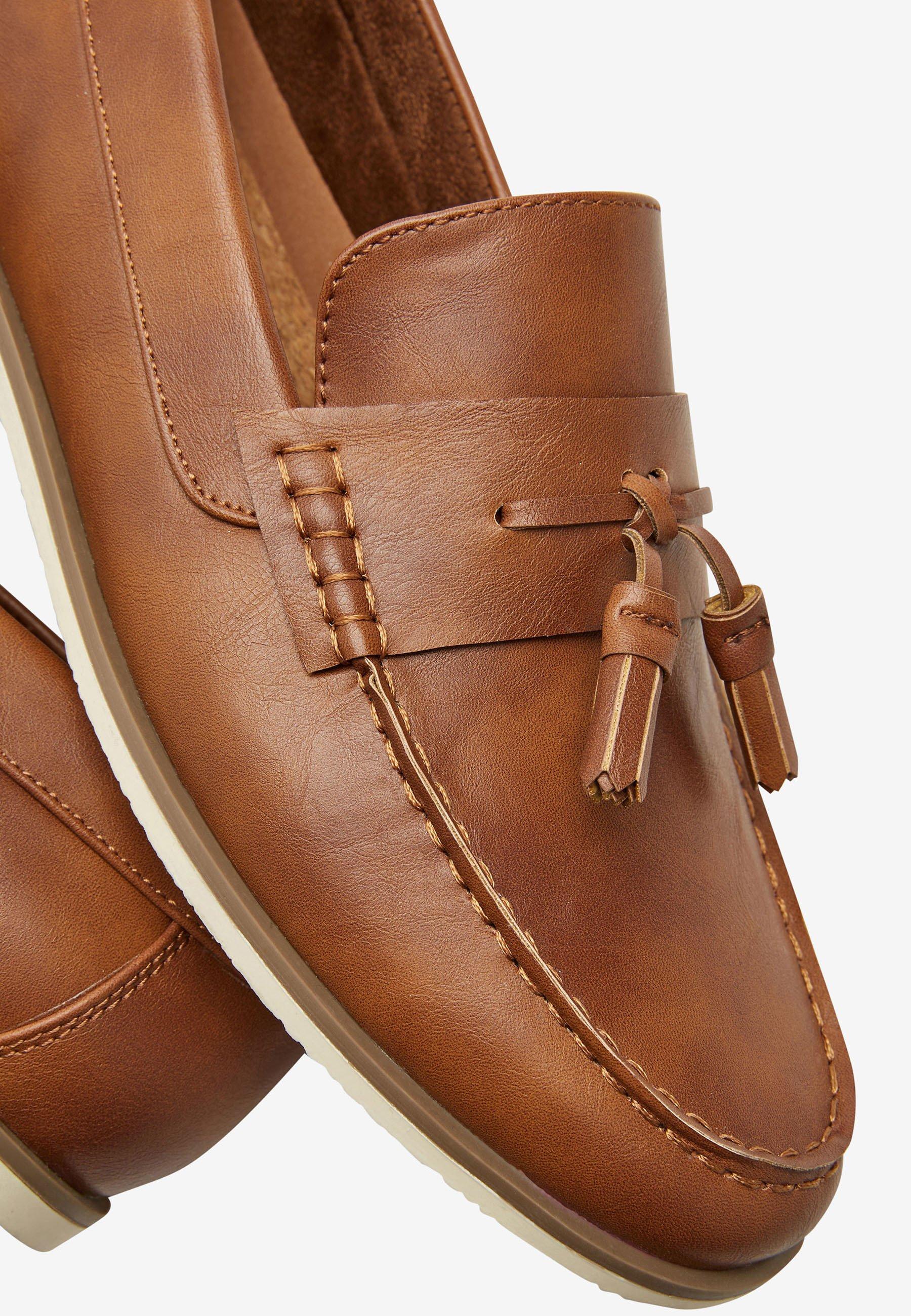 Next Mockasiner - mottled brown/brunmelerad - Herrskor 0P70r
