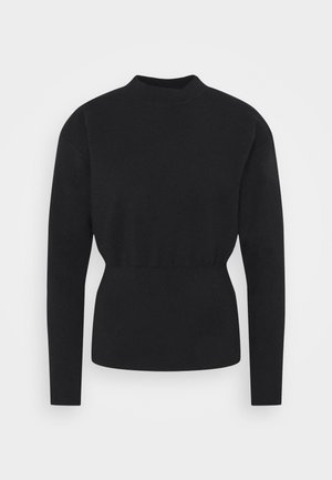 MILITARY MOCK NECK  - Jumper - dark blue