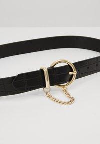 Topshop - CROC CHAIN BELT - Belt - black - 4