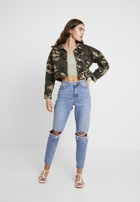Missguided - NECK CROPPED JUMPER - Strickpullover - olive - 1