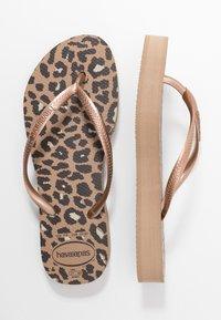 Havaianas - SLIM FIT FLATFORM ANIMALS - Pool shoes - steel grey - 0